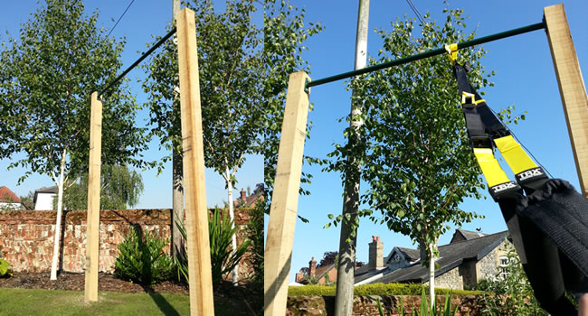 outdoor pull up bars for use in your garden diy pull up bars