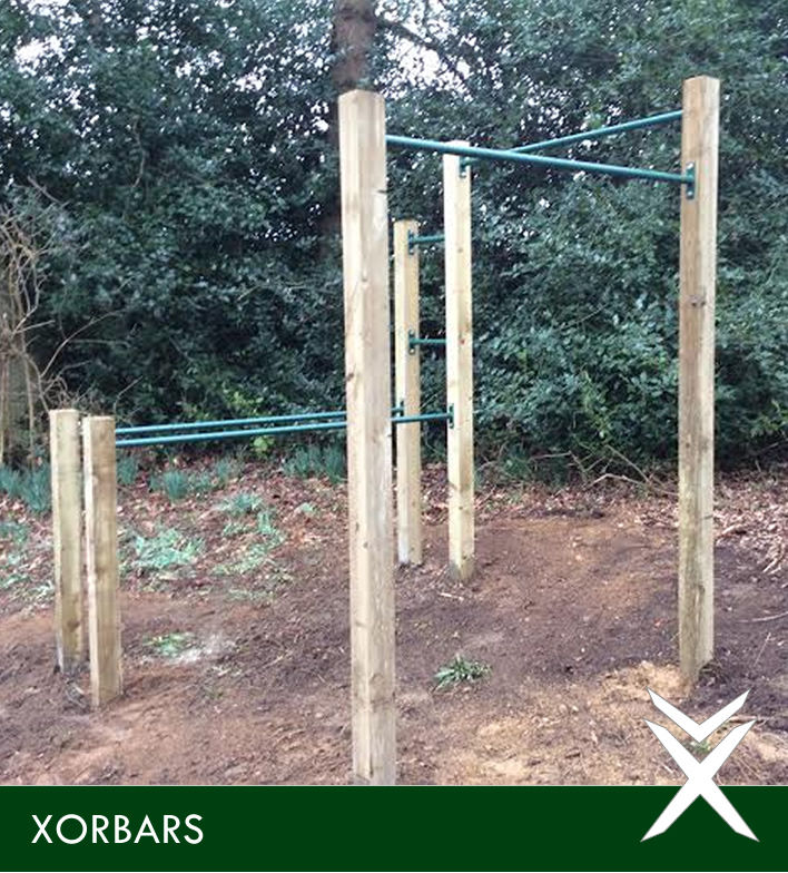 Backyard Pull Up Bar Plans : We love this Outdoor Pull Up Bar Set Up