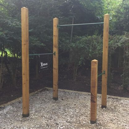 garden pull up bars x 3
