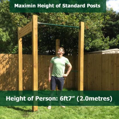 Maximum Post Height for STandard Pull Up Bar